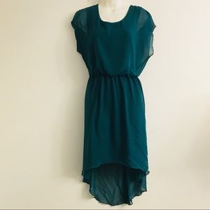 Enfocus Studio High-low Dress Dark Green Sz 6